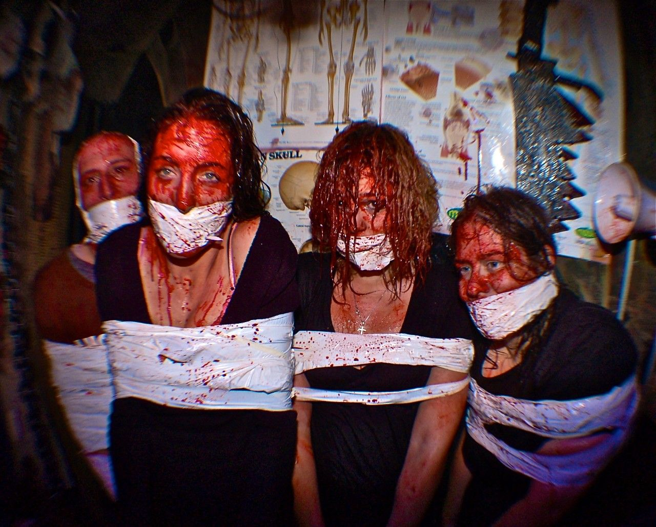 haunted houses, mystery manor, background checks, background screening, halloween, assault, scary
