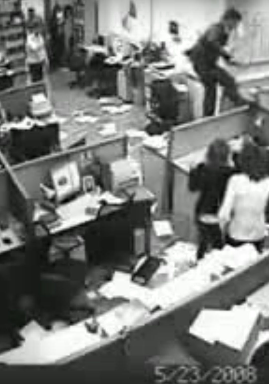 Office Employee Goes Berserk!